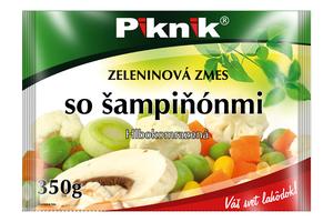 ZELENINOVÁ ZMES SO ŠAMPIŇÓNMI, 350 g
