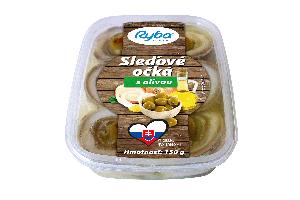Sleďové očká s olivou, 150G