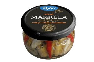 Sušená makrela v oleji s chilli a cesnakom 200g
